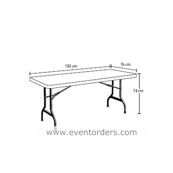 Beau Trestle Table White (6ft U2013 1830mm Long)
