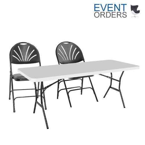 Sensational Trestle Table 6Ft 2X Chairs Event Orders Spiritservingveterans Wood Chair Design Ideas Spiritservingveteransorg