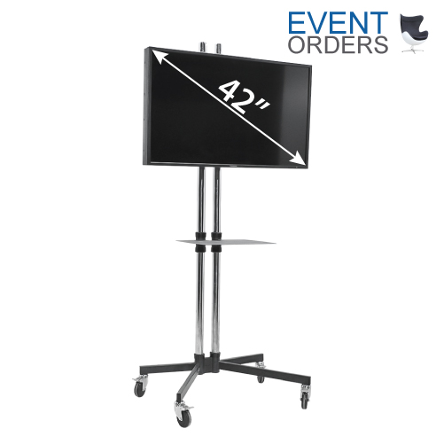 Expo Tv Stands : ″ screen m high stand shelf « event orders